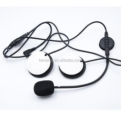 high quality motorcycle headset with hook and loop fastener