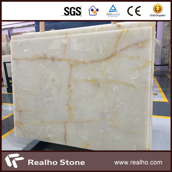 A big Slab Natural Snow White Onyx Stone