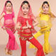 Professional Belly Dancer Costume Girls Oriental Indian Set Child Belly Dancing Clothes Stage Performance Wear 6 Pcs DNV10900