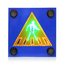 10 years factory Solar panel cross road pedestrian traffic signs