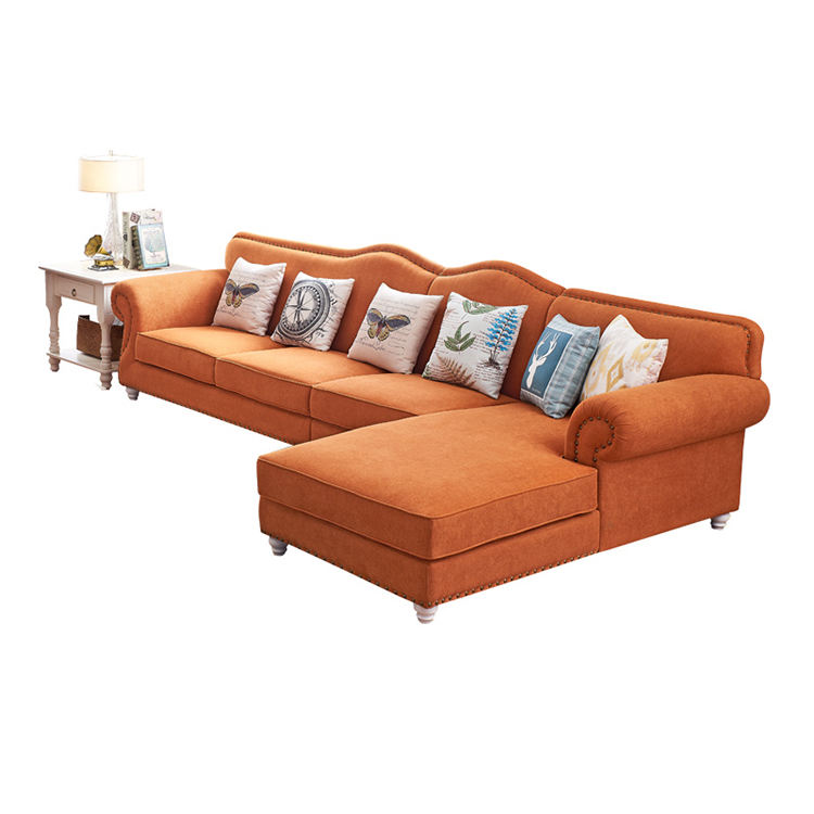 Mix Fabric Covered Down Upholstered Couch Living Room Sofa Furniture