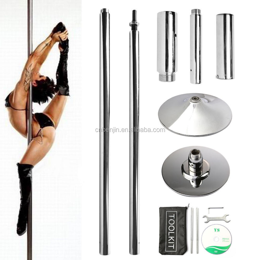 X Dance 45mm Chrome Portable Dance Pole (Spin/Static)