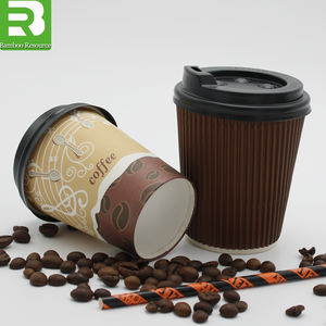 12 Oz Hot sale disposable Logo printed Take away paper coffee cups