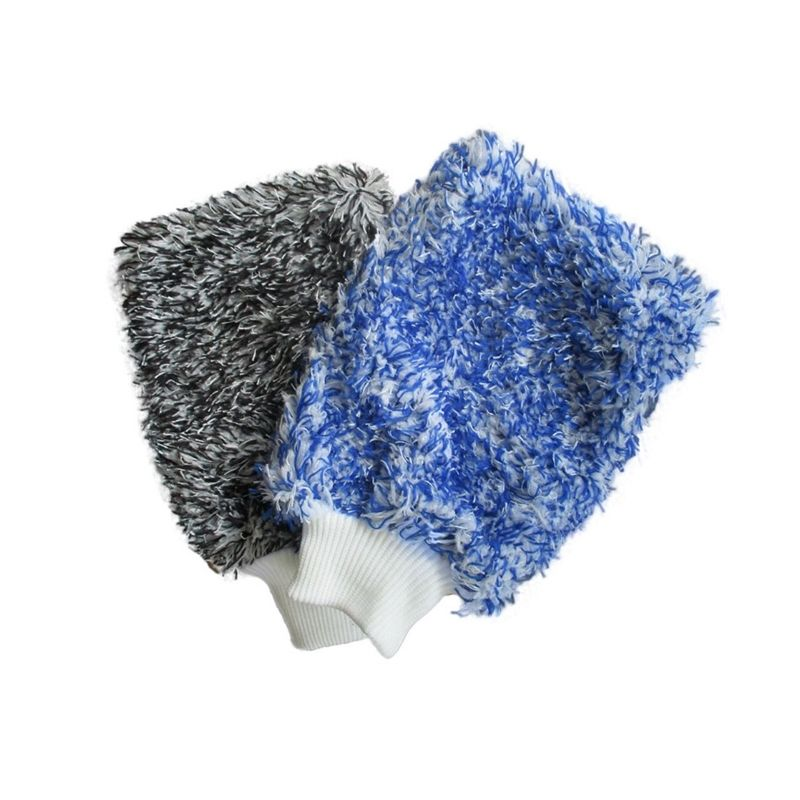 Microfiber Double-sided Coral Fleece Waterproof Car Wash Mitt Super Absorbent Microfiber Car Wash Mitt