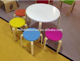 Curva cadeira de madeira para crianças exportação em venda quente