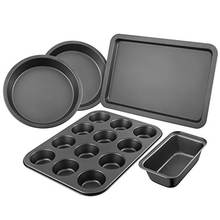 Carbon Steel Bakeware Baking Pan Set 5-Piece Non-stick PEFT Coated Baking Tray Set