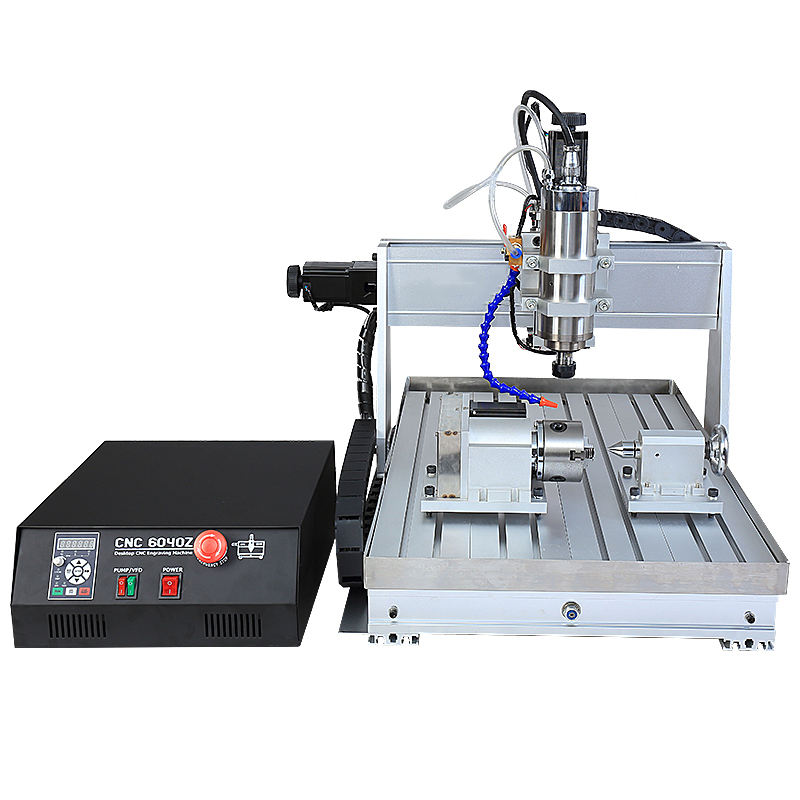 Water Coolant System Added Mini CNC 6040 4 Axis Kit 2.2KW 2200W Woodworking Machinery