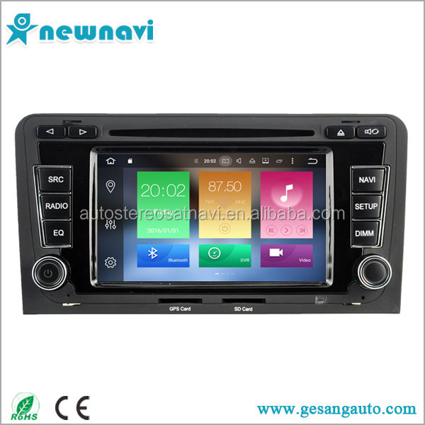 android system 6.2 inch capacitive touch screen car dvd with gps navigation for AUDI A3