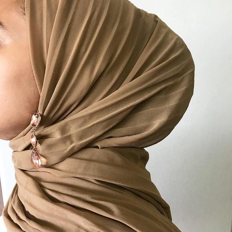 Classic <span class=keywords><strong>muslimischen</strong></span> dame <span class=keywords><strong>gebet</strong></span> schal farben modestfashion hijablovers tudang schal plissee chiffon hijab