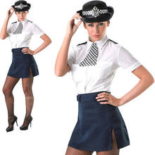 Policewoman Ladies Fancy Dress Police Cop Uniform Women Adults Costume Outfit CE074