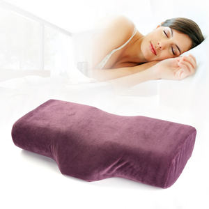 Logo Print Ergonomic Cosmetic Head Rest Eyelash Extension Zippered Neck Head Cushioning Memory Foam Pillow