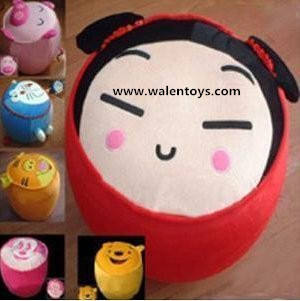 Inflatable ottoman ,35cm x 30cm,CUTE CHINA DOLL Inflatable Foot Stool