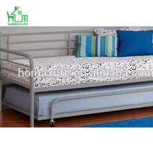 silver Separate Trundle Metal Daybed Frame
