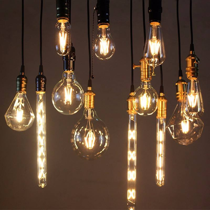 Dimmable 2W 4W 6W 8W Vintage Edison LED Bulb E26 E27 B22 Antique Filament LED Light Bulbs ST64 A60 G95 T45 T30
