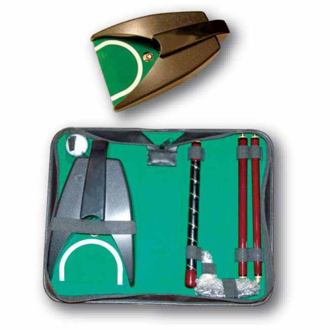 indoor Golf ball return putting machine gift set for Leather bag