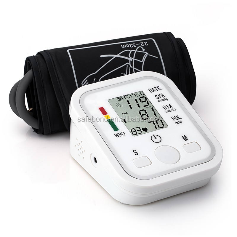 Safebond CE Quality Large Screen Digital Wrist type Blood Pressure Monitor