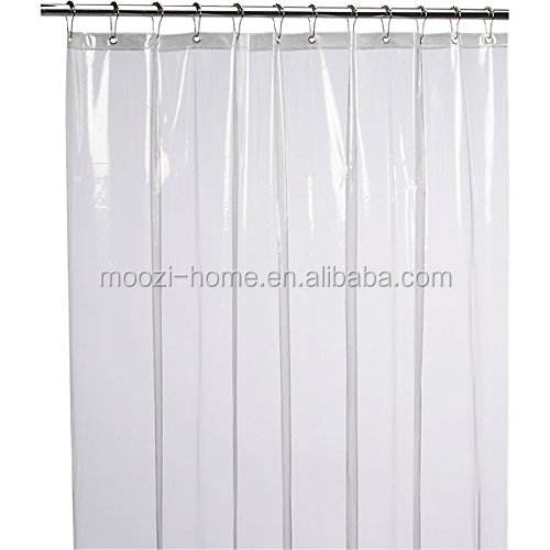 Mildew resistant anti-bacterial clear PEVA 6G shower curtain liner 72x72 inch - non toxic, eco-friendly, no chemical odor