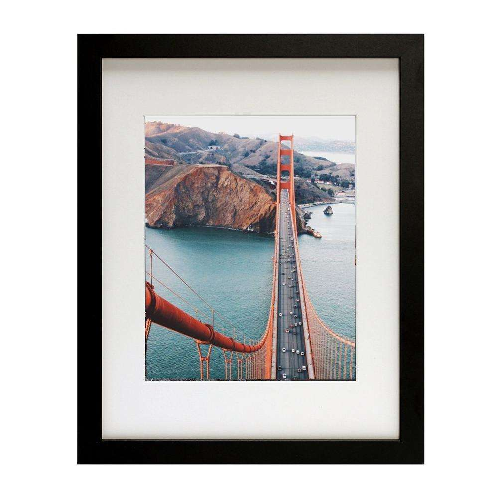 large gallery wall decor wooden picture photo frames A1 A2 A3 A4 11x14 16x20 20x26 - black, wood, white