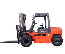 china  diesel   7 ton  forklift   pallet  stacker  with double front tire