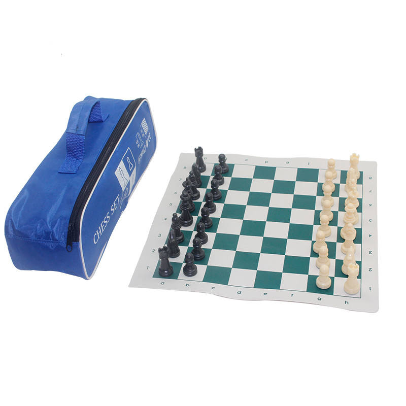 Tournament Standard Club Chess Set , chess Board with hang bag