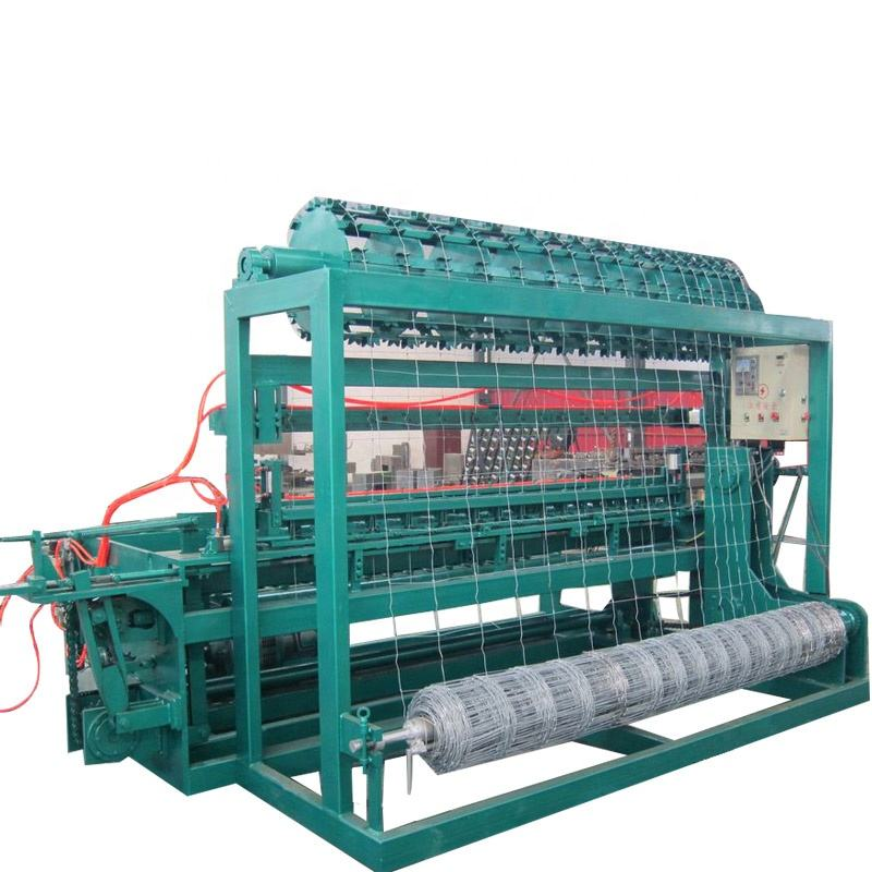 High speed Fixed Knot Grassland Fence Wire Mesh Machine