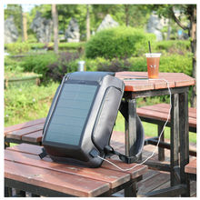 Kingsons  high tech trend RFID blocking antitheft backpack bag rucksack smart solar backpack with buckle lock