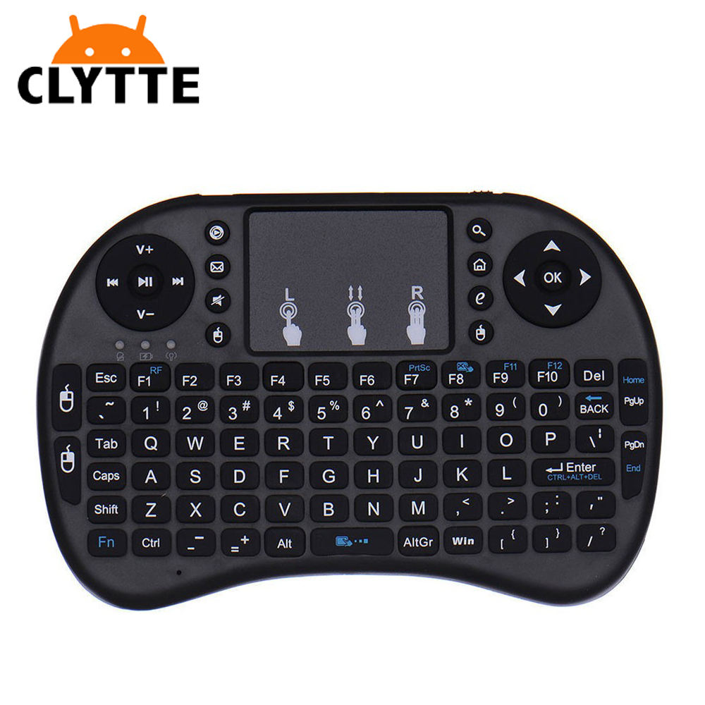 Mini I8 Wireless 2.4G <span class=keywords><strong>Keyboard</strong></span> Air Mouse dengan Touchpad Mouse LED Backlit mini wireless <span class=keywords><strong>keyboard</strong></span> untuk lg smart tv