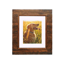 Rustic Brown Wooden Photo Frames Wall Mounting Display for Memorial keepsake
