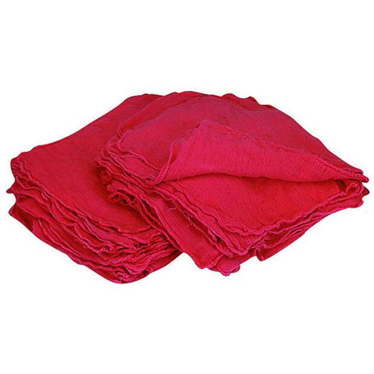 1000 Pieces Red Cotton Shop Towel Rags **Industrial Grade** New Wipers Bale Pack