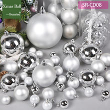 8cm 10cm 20cm 30cm 40cm 60cm shiny Matt silver giant christmas plastic ball ornament factory