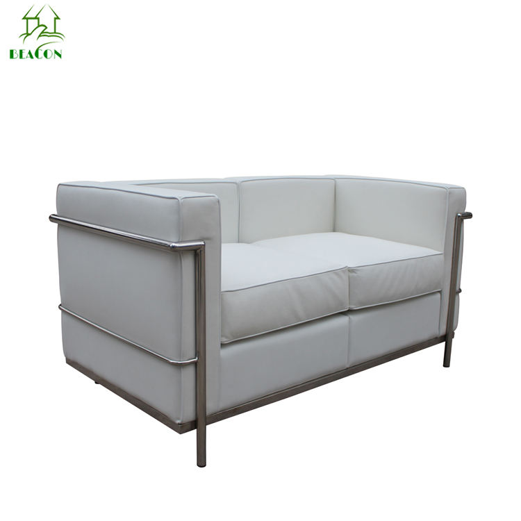 wholesale Le Corbusier PU leather sofa LC2 two seater sofa