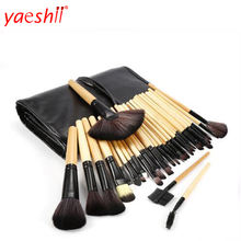 Yashi NEW 32pcs Professional Travel Makeup Cosmetic Brush Set Tool Kit Case