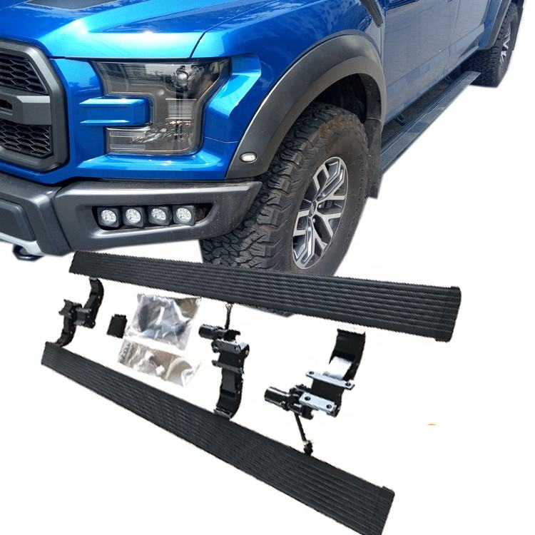 High quality aluminum alloy automatic retractable electric running board side step for 2009 2015 2017 2018 F150