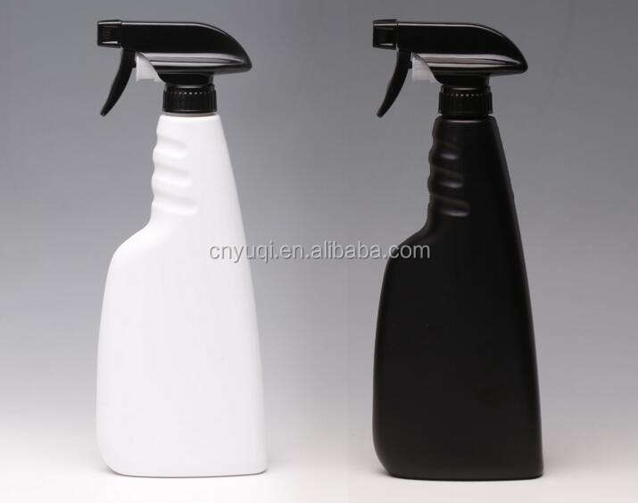 16oz 500ml whitw/black Hdpe Plastic Packaging Spray Bottle For Liquid Detergent trigger sprayer