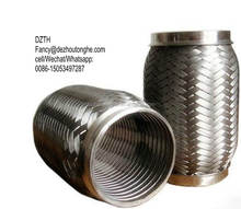 high quality exhaust flexible bellows with steel braids