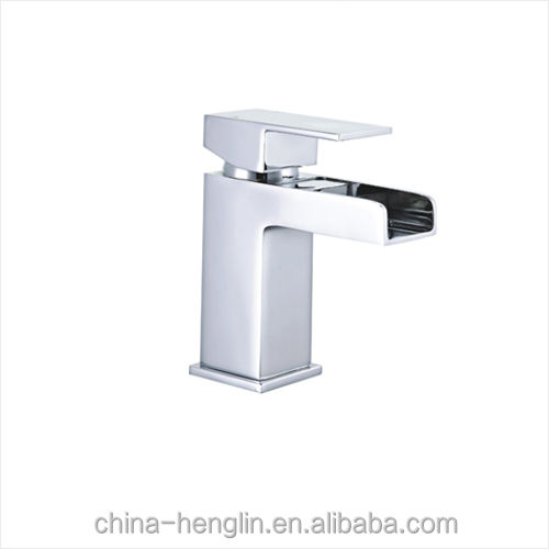 For Basin UK Bathroom Brass Waterfall Wash Faucet