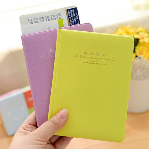NEW Flower Series Macaron travel passport holder