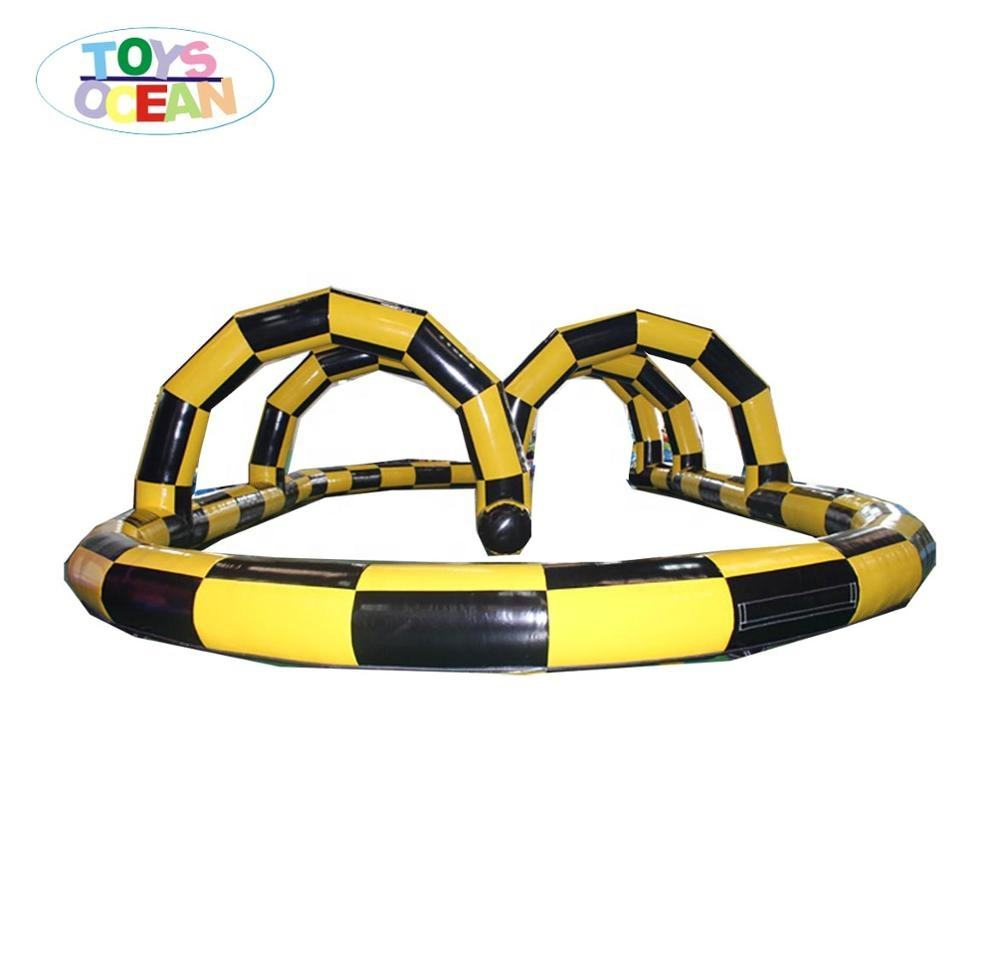 inflatable go karts racing track outdoor air race track