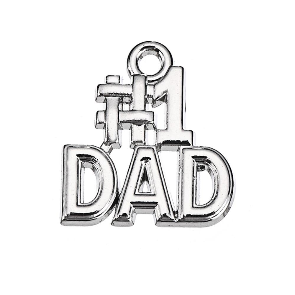 Number 1 DAD Charm Happy Father's Day Gift Custom Jewelry
