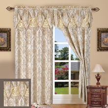 Elegant Comfort Luxury Curtain Panel Set,High Quality  Jacquard Blackout Ready Made Custom Curtains