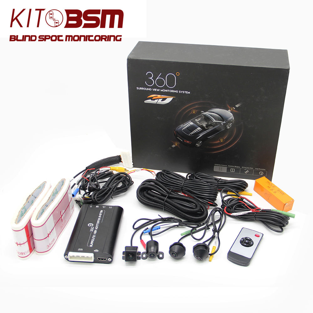 KIT BSM HD 1080P 3D car multi view surround view camera 360 degree camera bird view system