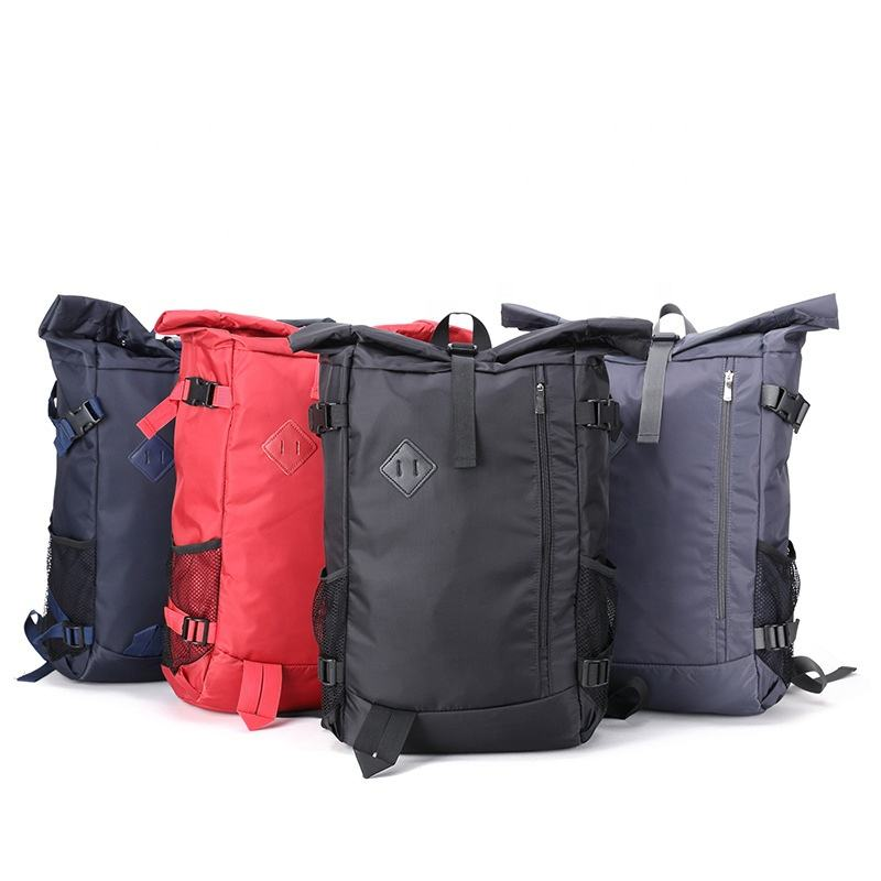 Quality products custom waterproof men hiking backpack bag women travel simple roll up sports back pack