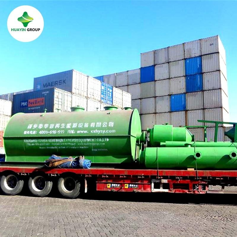 New condition black pyrolysis oil refinery to diesel distillation plant