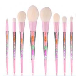 Oem 8pcs Lovely cosmetic makeup brushes pink makeup tools LO