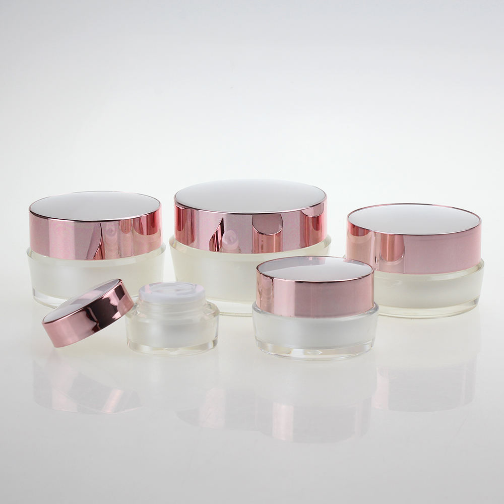 Full size 5g 10g 15g 30g 50g acrylic jar empty plastic cosmetic cream jars facial cream jar 5g 10g 15g 30g 50g