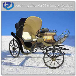 Romantic White Wedding Horse Carriage/ High quality sightseeing Horse Wagons for Sale