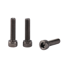 Black Ni Plated Galvanized Carbon Steel Fillister hex socket head cap screw