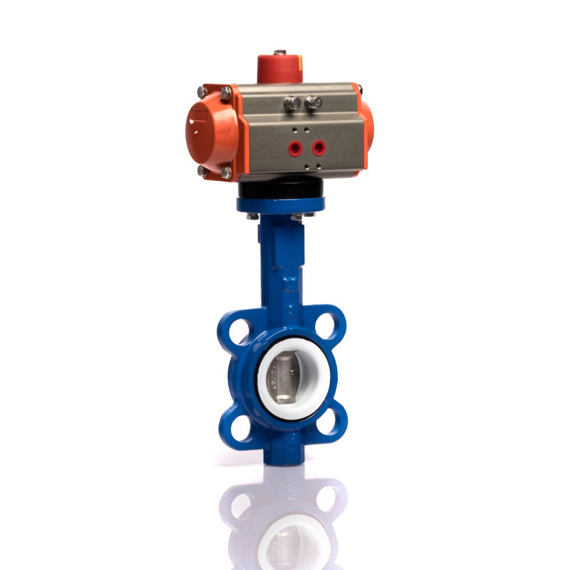 Valve Price Low Price DN50 Wafer Connection 10 Inch Stainless Steel Pneumatic Butterfly Valve