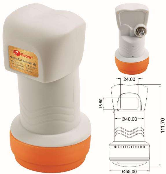 Gecen factory price lnb cou ku band prime focus lnb pll lnb ku band