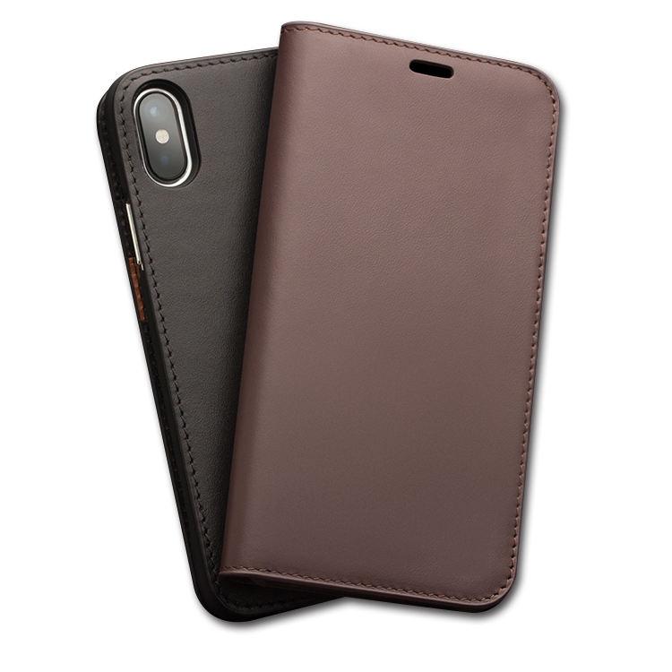 Người đàn ông kinh doanh phụ nữ wallet case với chủ thẻ closure magnetic lật bìa genuine leather wallet case cho iphone x